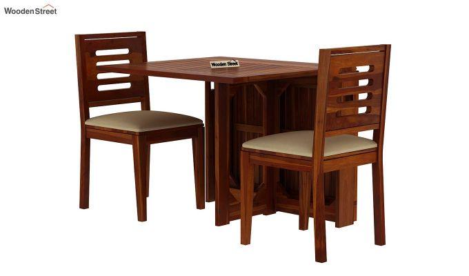 Paul 2 Seater Dining Set (Honey Finish)-2