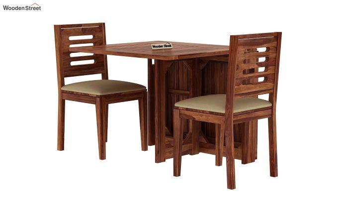 Paul 2 Seater Dining Set (Teak Finish)-2