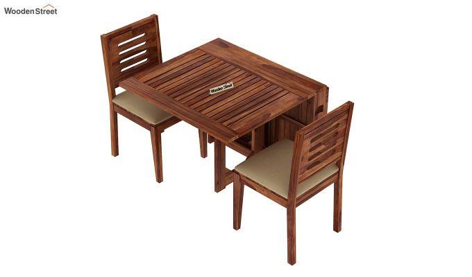Paul 2 Seater Dining Set (Teak Finish)-4