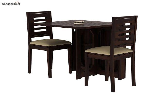 Paul 2 Seater Dining Set (Walnut Finish)-2