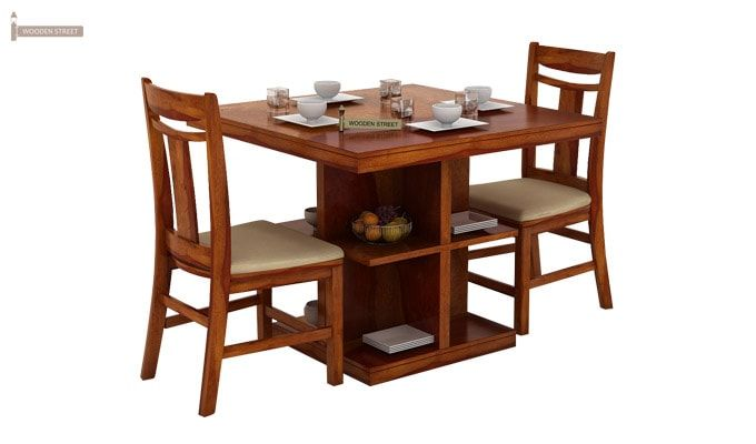 Ralph 2 Seater Dining Set with Storage (Honey Finish)-3