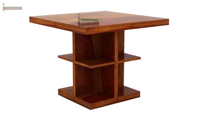 Ralph 2 Seater Dining Set with Storage (Honey Finish)-4