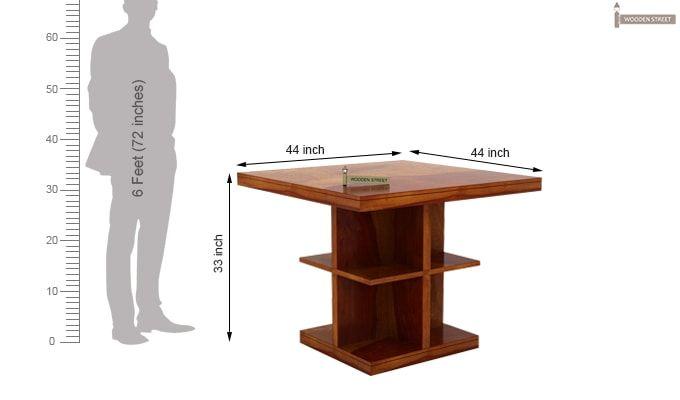 Ralph 2 Seater Dining Set with Storage (Honey Finish)-9