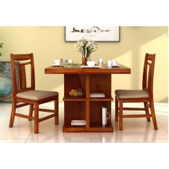 Ralph 2 Seater Dining Set with Storage (Honey Finish)