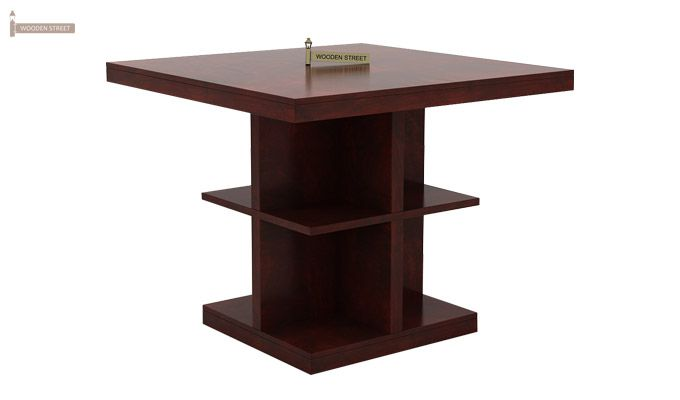 Ralph 2 Seater Dining Set with Storage (Mahogany Finish)-3