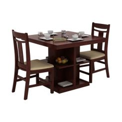 Ralph 2 Seater Dining Set with Storage (Mahogany Finish)