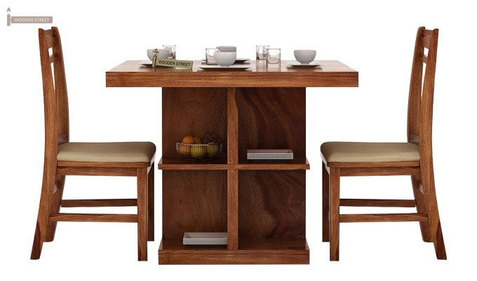 Ralph 2 Seater Dining Set with Storage (Teak Finish)-1