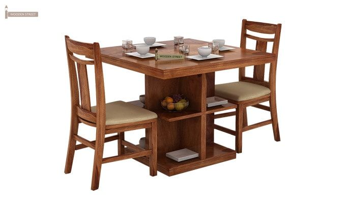Ralph 2 Seater Dining Set with Storage (Teak Finish)-2