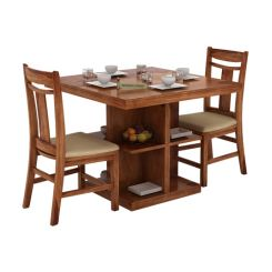 Ralph 2 Seater Dining Set with Storage (Teak Finish)
