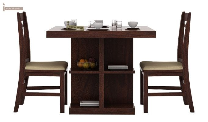 Ralph 2 Seater Dining Set with Storage (Walnut Finish)-2