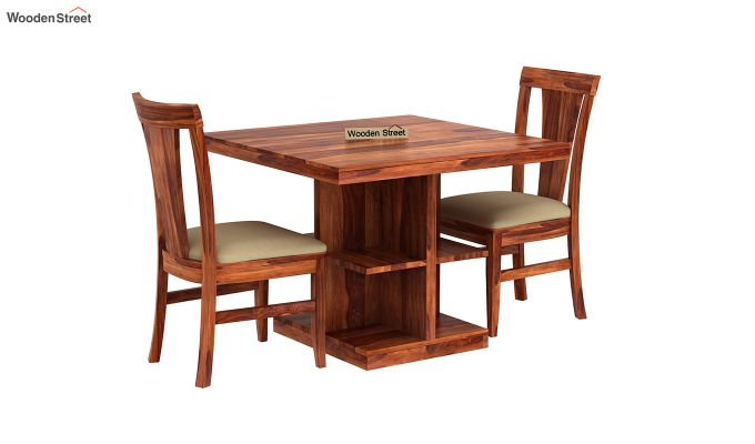 Ralph 2 Seater Dining Set with Storage (Honey Finish)-2