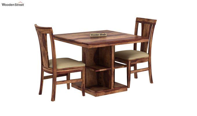 Ralph 2 Seater Dining Set with Storage (Teak Finish)-2