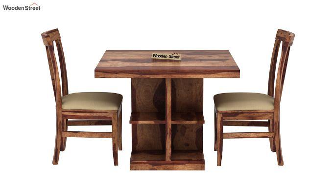 Ralph 2 Seater Dining Set with Storage (Teak Finish)-3
