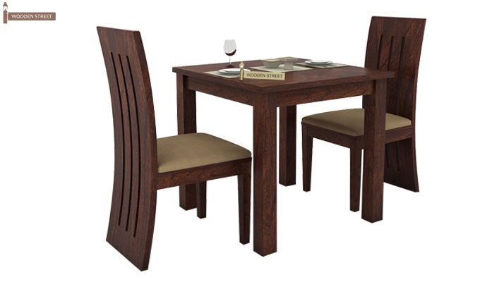 Terex 2 Seater Dining Set (Walnut Finish)-2