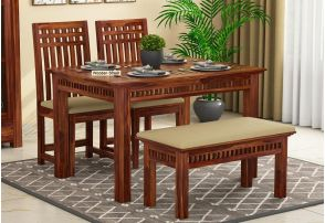 first rate d19fd d36c2 4 Seater Dining Table Set: Buy Four Seater Dining Set Online