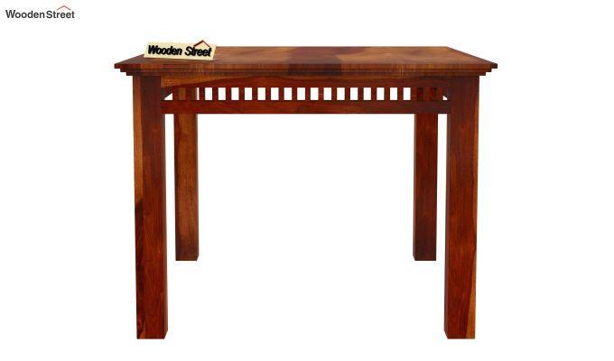 Adolph 4 Seater Dining Set (Honey Finish)-4