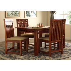 Adolph 4 Seater Dining Set (Honey Finish)