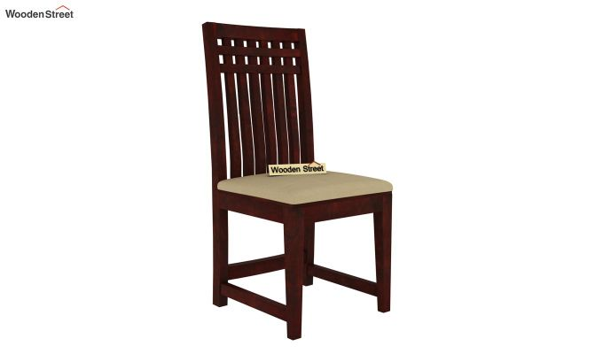Adolph 4 Seater Dining Set (Mahogany Finish)-5