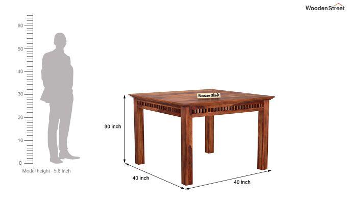 Adolph 4 Seater Dining Set (Honey Finish)-8