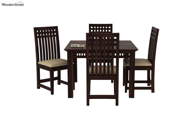 Adolph 4 Seater Dining Set (Walnut Finish)-3