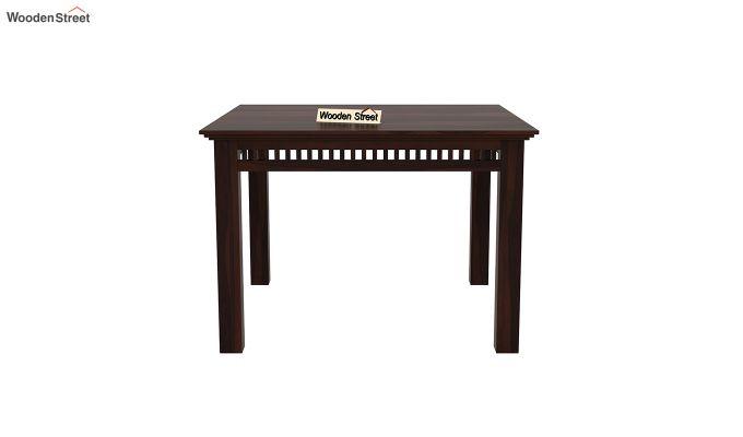Adolph 4 Seater Dining Set (Walnut Finish)-5