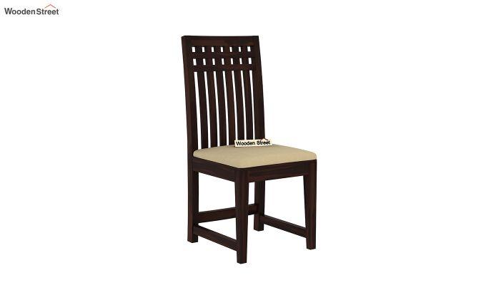 Adolph 4 Seater Dining Set (Walnut Finish)-6