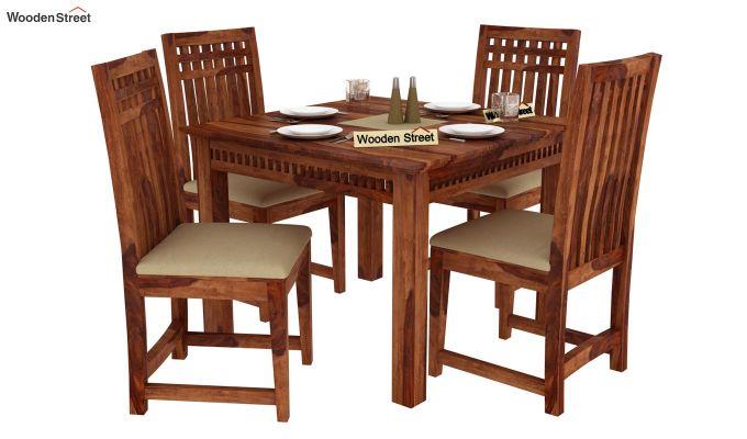 Adolph 4 Seater Dining Set (Teak Finish)-1