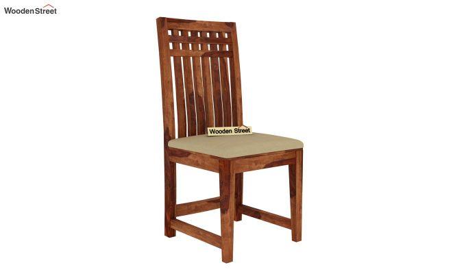 Adolph 4 Seater Dining Set (Teak Finish)-5
