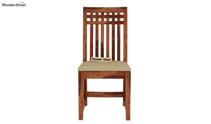 Adolph 4 Seater Dining Set (Teak Finish)-6