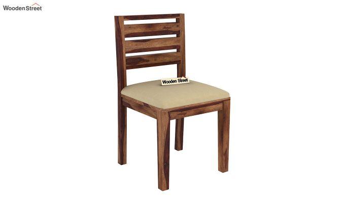 Advin 4 Seater Extendable Dining Set (Teak Finish)-9