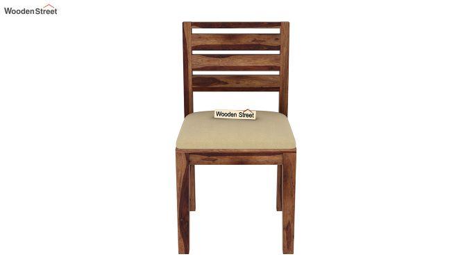 Advin 4 Seater Extendable Dining Set (Teak Finish)-10