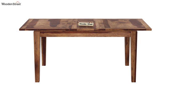 Advin 4 Seater Extendable Dining Set (Teak Finish)-5