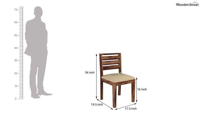 Advin 4 Seater Extendable Dining Set (Teak Finish)-12