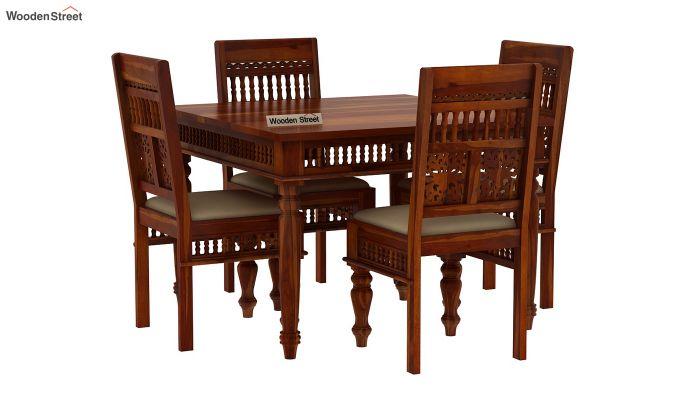 Alanis 4 Seater Dining Set (Honey Finish)-2