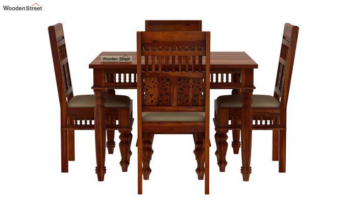 Alanis 4 Seater Dining Set (Honey Finish)-3