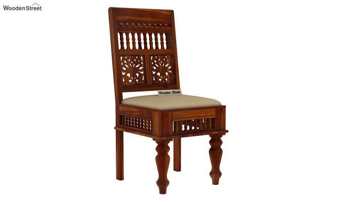 Alanis 4 Seater Dining Set (Honey Finish)-4