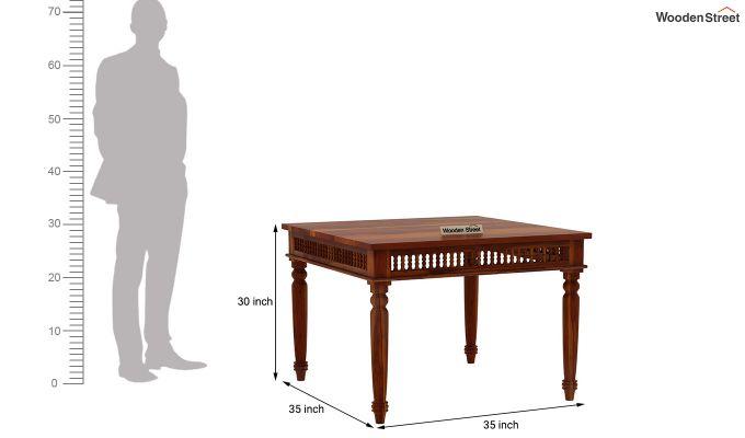 Alanis 4 Seater Dining Set (Honey Finish)-9