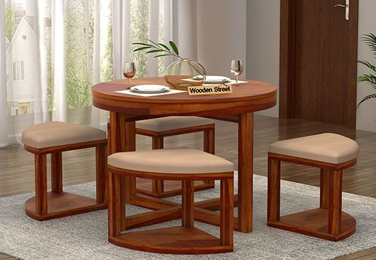 buy round dining table set online india