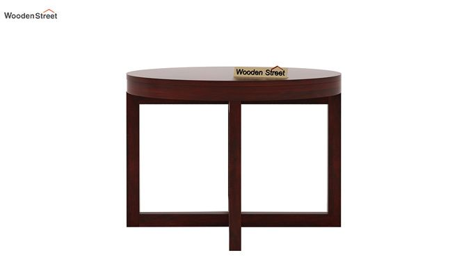 Alvan 4 Seater Round Dining Set (Mahogany Finish)-6