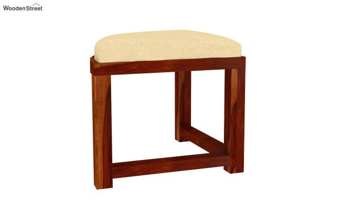 Alvan 4 Seater Round Dining Set (Honey Finish)-6