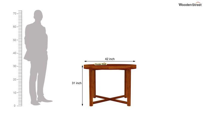 Alvan 4 Seater Round Dining Set (Honey Finish)-8