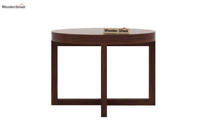 Alvan 4 Seater Round Dining Set (Walnut Finish)-6
