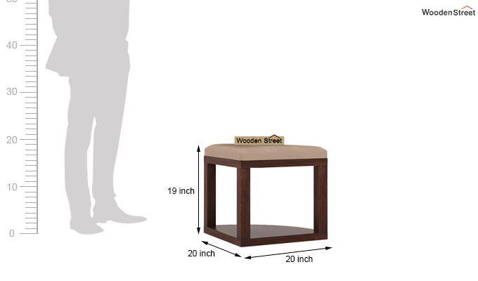 Alvan 4 Seater Round Dining Set (Walnut Finish)-10