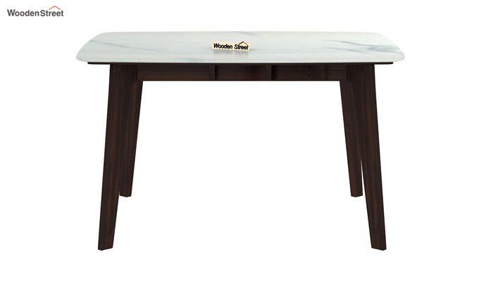 Amoha 4 Seater Marble Top Dining Set (Walnut Finish)-5