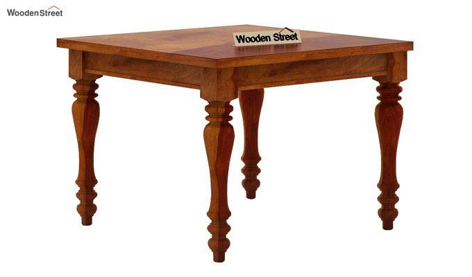 Amora 4 Seater Dining Table Set (Honey Finish)-4
