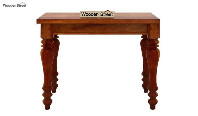 Amora 4 Seater Dining Table Set (Honey Finish)-5