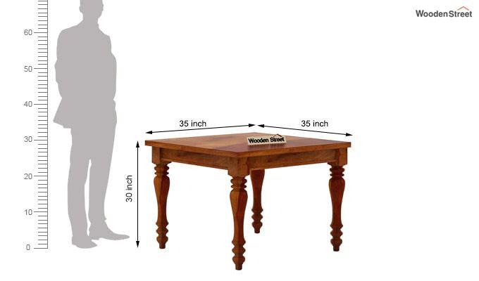 Amora 4 Seater Dining Table Set (Honey Finish)-8