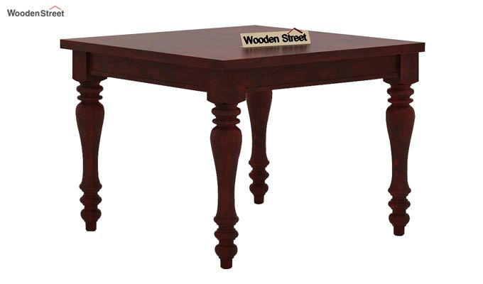 Amora 4 Seater Dining Table Set (Mahogany Finish)-3