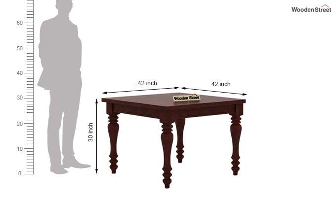 Amora 4 Seater Dining Table Set (Mahogany Finish)-7