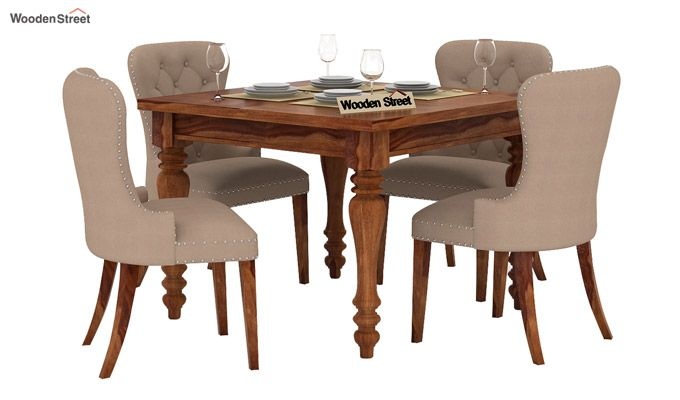 Amora 4 Seater Dining Table Set (Teak Finish)-1
